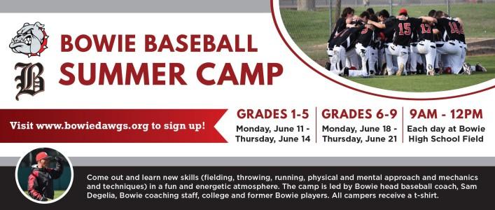 Bowie Baseball Summer Camp
